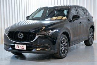2018 Mazda CX-5 KF4W2A Akera SKYACTIV-Drive i-ACTIV AWD Black 6 Speed Sports Automatic Wagon.