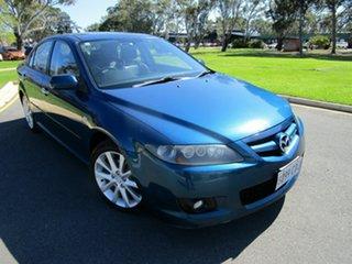 2007 Mazda 6 GG 05 Upgrade Luxury Blue 5 Speed Auto Activematic Hatchback.