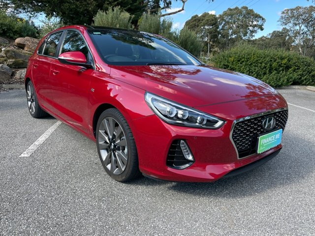 Used Hyundai i30 PD MY18 SR D-CT Totness, 2017 Hyundai i30 PD MY18 SR D-CT Fiery Red 7 Speed Sports Automatic Dual Clutch Hatchback