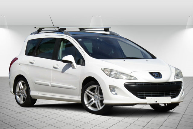 Used Peugeot 308 T7 Sportium Touring Oakleigh South, 2010 Peugeot 308 T7 Sportium Touring Alaska White 6 Speed Sports Automatic Wagon
