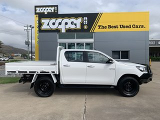2017 Toyota Hilux GUN126R SR Double Cab White/030317 6 Speed Sports Automatic Utility.