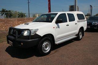 2013 Toyota Hilux KUN26R MY12 SR Double Cab Glacier White 5 Speed Manual Dual Cab.