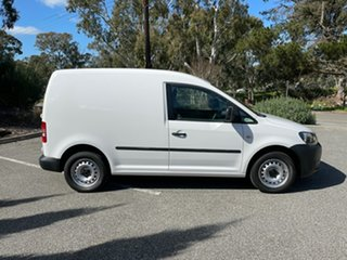 2013 Volkswagen Caddy 2KN MY13 TSI160 SWB Runner White 5 Speed Manual Van.