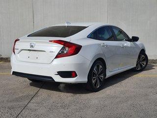 2016 Honda Civic 10th Gen MY16 VTi-L White 1 Speed Constant Variable Sedan.