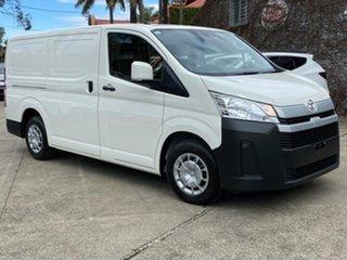 2021 Toyota HiAce French Vanilla Automatic Van.