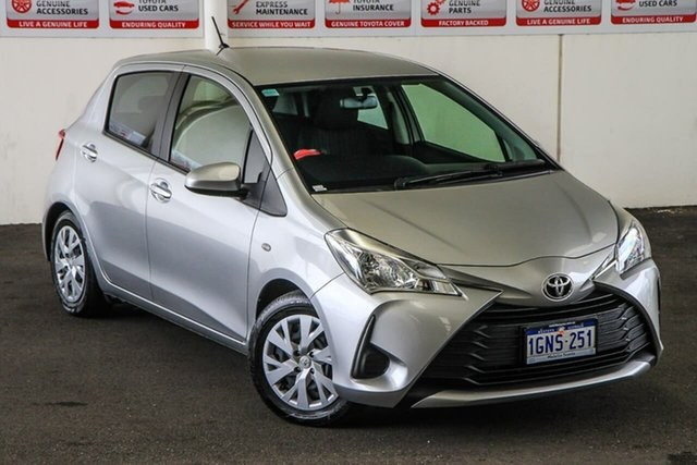 Pre-Owned Toyota Yaris NCP130R MY17 Ascent Myaree, 2018 Toyota Yaris NCP130R MY17 Ascent Silver Pearl 4 Speed Automatic Hatchback