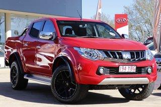 2017 Mitsubishi Triton MQ MY18 GLS Double Cab Red 5 Speed Sports Automatic Utility.