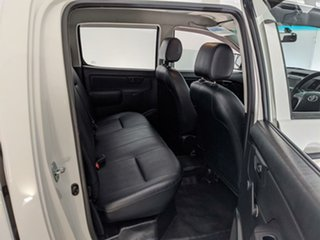 2013 Toyota Hilux TGN16R MY12 Workmate Double Cab 4x2 White 4 Speed Automatic Utility