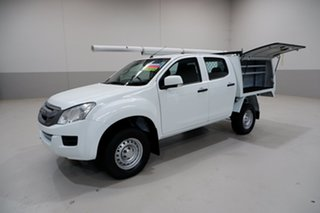 2016 Isuzu D-MAX MY15 SX Crew Cab 4x2 High Ride White 5 Speed Sports Automatic Cab Chassis