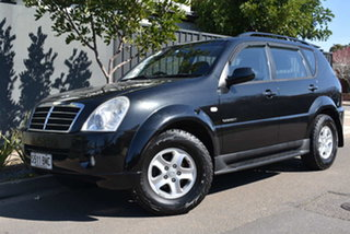 2008 Ssangyong Rexton Y220 II MY08 RX270 Black 5 Speed Sports Automatic Wagon.