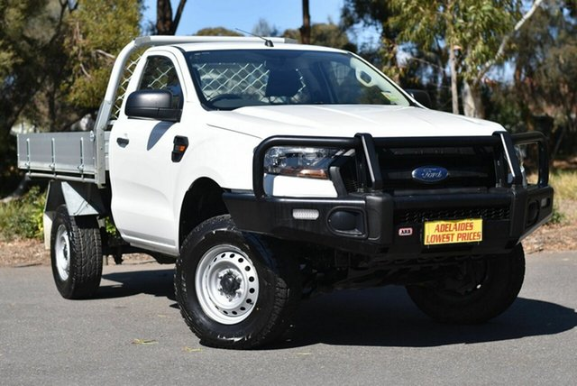 Used Ford Ranger PX MkII 2018.00MY XL Hi-Rider Enfield, 2017 Ford Ranger PX MkII 2018.00MY XL Hi-Rider White 6 Speed Manual Cab Chassis
