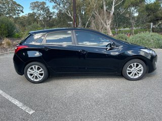 2013 Hyundai i30 GD Elite Black 6 Speed Sports Automatic Hatchback.