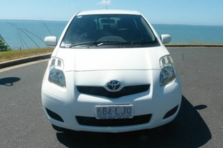 2008 Toyota Yaris NCP90R MY09 YR White 4 Speed Automatic Hatchback