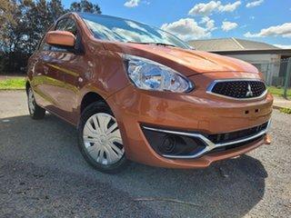 2018 Mitsubishi Mirage LA MY18 ES Orange 1 Speed Constant Variable Hatchback.