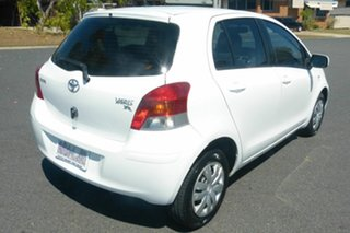 2008 Toyota Yaris NCP90R MY09 YR White 4 Speed Automatic Hatchback.