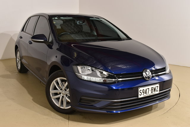 Used Volkswagen Golf 7.5 MY18 110TSI Nailsworth, 2018 Volkswagen Golf 7.5 MY18 110TSI Blue 6 Speed Manual Hatchback