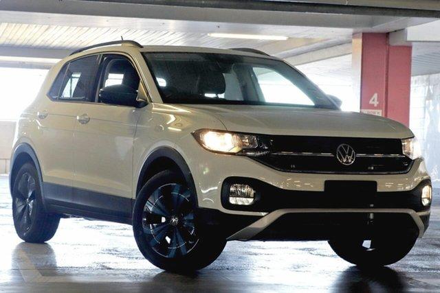 New Volkswagen T-Cross C1 MY21 85TSI DSG FWD CityLife Botany, 2021 Volkswagen T-Cross C1 MY21 85TSI DSG FWD CityLife Pure White 7 Speed