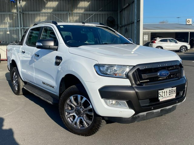 Used Ford Ranger PX MkII Wildtrak Double Cab Hillcrest, 2017 Ford Ranger PX MkII Wildtrak Double Cab White 6 Speed Sports Automatic Utility