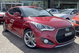 2017 Hyundai Veloster FS5 Series 2 MY16 SR Turbo Boston Red 7 Speed Auto Dual Clutch Coupe.