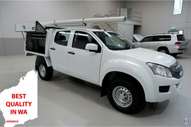 Used Isuzu D-MAX MY15 SX Crew Cab 4x2 High Ride Kenwick, 2016 Isuzu D-MAX MY15 SX Crew Cab 4x2 High Ride White 5 Speed Sports Automatic Cab Chassis