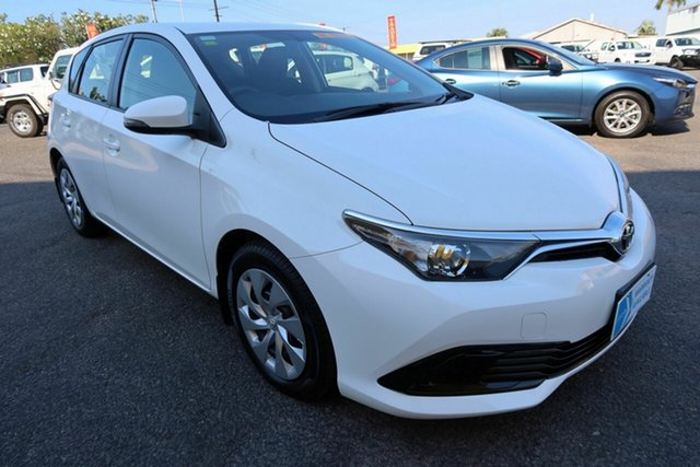 Used Toyota Corolla ZRE182R Ascent S-CVT Winnellie, 2016 Toyota Corolla ZRE182R Ascent S-CVT White 7 Speed Constant Variable Hatchback