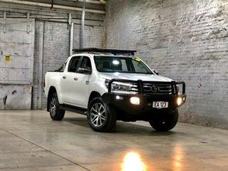 2017 Toyota Hilux GUN136R SR5 Double Cab 4x2 Hi-Rider White 6 Speed Sports Automatic Utility.