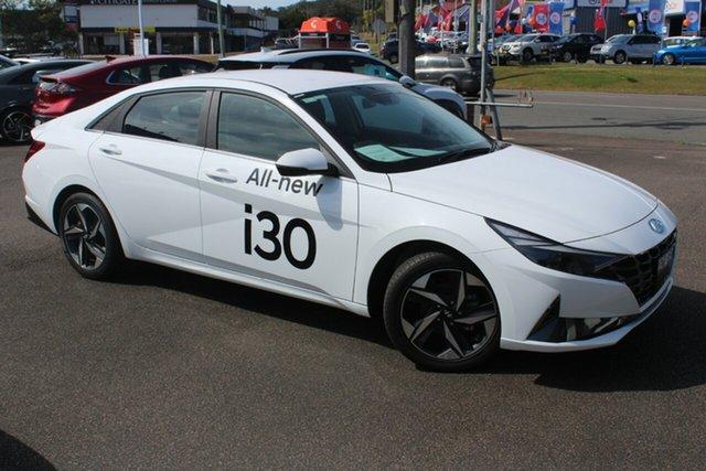 Demo Hyundai i30 CN7.V1 MY21 Active North Gosford, 2020 Hyundai i30 CN7.V1 MY21 Active Polar White 6 Speed Sports Automatic Sedan