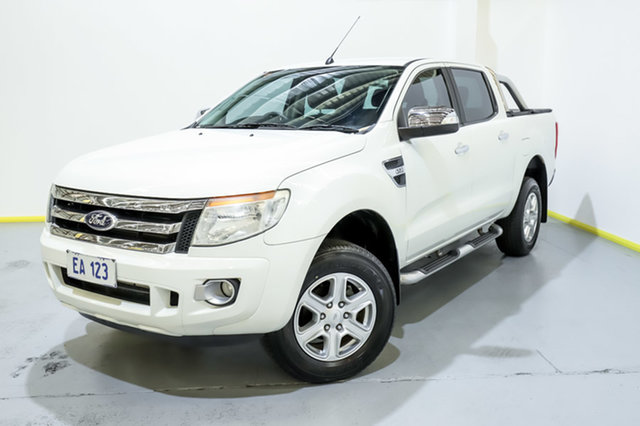 Used Ford Ranger PX XLT 3.2 Hi-Rider (4x2) Canning Vale, 2014 Ford Ranger PX XLT 3.2 Hi-Rider (4x2) White 6 Speed Manual Crew Cab Pickup