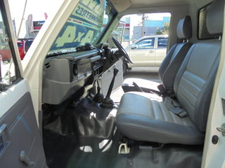 2005 Toyota Landcruiser HZJ79R White 5 Speed Manual Cab Chassis