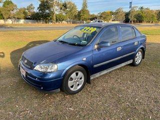 2002 Holden Astra TS CD Blue 5 Speed Manual Hatchback.