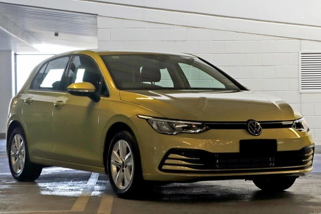 New Volkswagen Golf 8 MY21 110TSI Maitland, 2021 Volkswagen Golf 8 MY21 110TSI Pure White 8 Speed Sports Automatic Hatchback