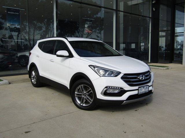 Used Hyundai Santa Fe DM3 MY17 Active Ravenhall, 2016 Hyundai Santa Fe DM3 MY17 Active White 6 Speed Sports Automatic Wagon