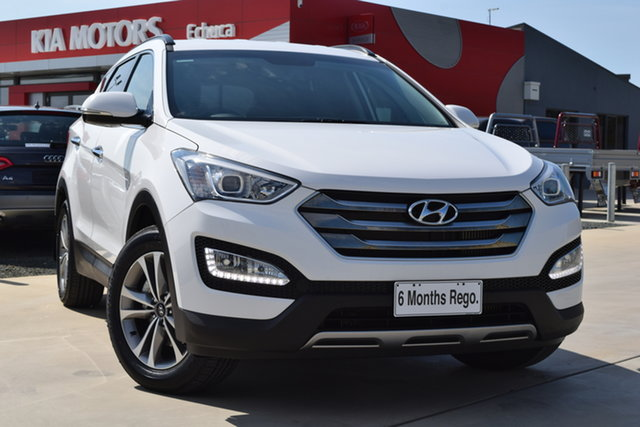 Used Hyundai Santa Fe DM2 MY15 Elite Echuca, 2015 Hyundai Santa Fe DM2 MY15 Elite White 6 Speed Sports Automatic Wagon