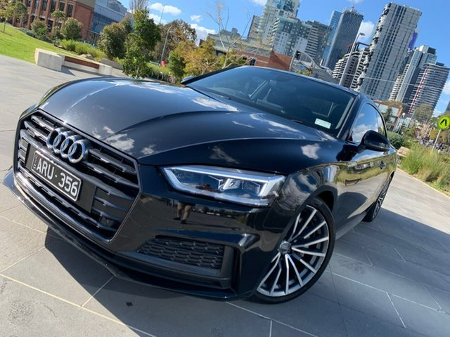 Used Audi A5 F5 MY18 Sport S Tronic Quattro South Melbourne, 2017 Audi A5 F5 MY18 Sport S Tronic Quattro Black 7 Speed Sports Automatic Dual Clutch Coupe