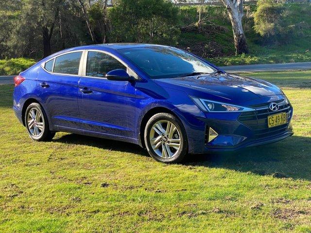 Used Hyundai Elantra AD.2 MY19 Active Wodonga, 2018 Hyundai Elantra AD.2 MY19 Active Blue 6 Speed Sports Automatic Sedan