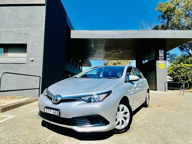 Used Toyota Corolla ZRE182R Ascent S-CVT Liverpool, 2016 Toyota Corolla ZRE182R Ascent S-CVT Silver, Chrome 7 Speed Constant Variable Hatchback