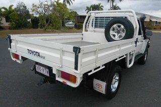 2011 Toyota Landcruiser VDJ79R MY10 GX White 5 Speed Manual Cab Chassis.