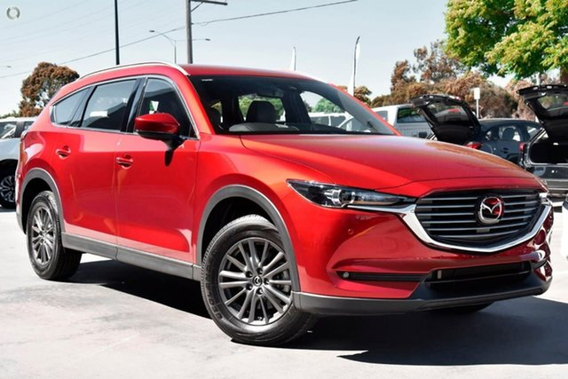 New Mazda CX-8 KG2WLA Touring SKYACTIV-Drive FWD Waitara, 2021 Mazda CX-8 KG2WLA Touring SKYACTIV-Drive FWD Red 6 Speed Sports Automatic Wagon