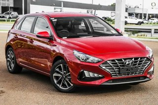 2021 Hyundai i30 PD.V4 MY22 Active Fiery Red 6 Speed Sports Automatic Hatchback.