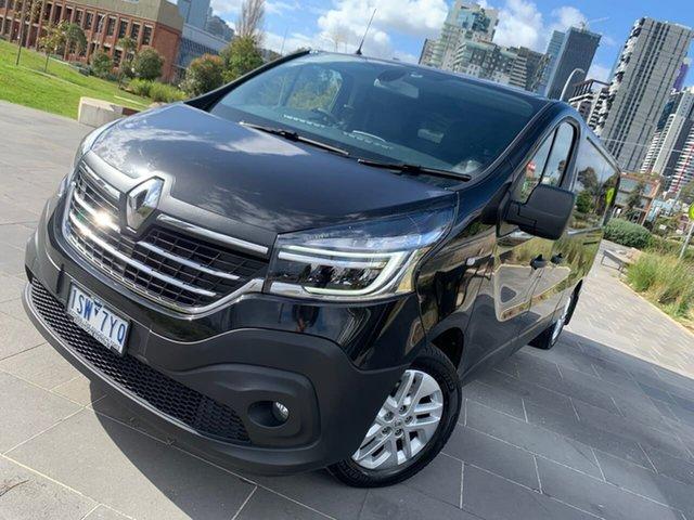 Used Renault Trafic X82 MY21 Premium Low Roof LWB EDC 125kW South Melbourne, 2020 Renault Trafic X82 MY21 Premium Low Roof LWB EDC 125kW Black 6 Speed