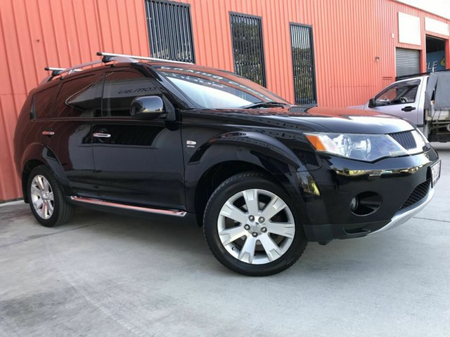 Used Mitsubishi Outlander ZG MY08 XLS Luxury Molendinar, 2008 Mitsubishi Outlander ZG MY08 XLS Luxury Black 6 Speed Constant Variable Wagon