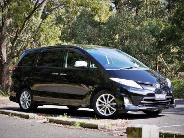 Used Toyota Estima Aeras Braeside, 2010 Toyota Estima ACR50W Aeras Black 4 Speed Automatic Van
