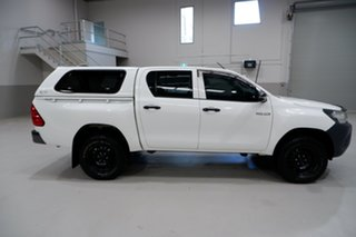 2017 Toyota Hilux GUN125R Workmate Double Cab White 6 Speed Sports Automatic Utility