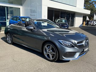 2016 Mercedes-Benz C200 205 MY17 Selenite Grey 9 Speed Automatic G-Tronic Cabriolet