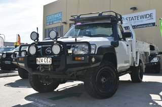 2007 Nissan Patrol GU MY08 DX (4x4) White 5 Speed Manual Coil Cab Chassis.