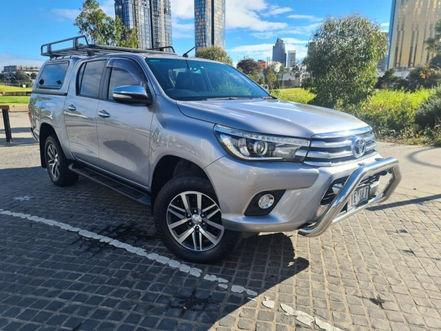 Used Toyota Hilux GUN126R SR5 Double Cab South Melbourne, 2016 Toyota Hilux GUN126R SR5 Double Cab Grey 6 Speed Sports Automatic Utility