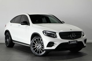2017 Mercedes-Benz GLC-Class C253 GLC250 Coupe 9G-Tronic 4MATIC White 9 Speed Sports Automatic Wagon.