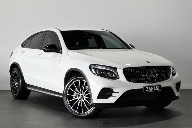 Used Mercedes-Benz GLC-Class C253 GLC250 Coupe 9G-Tronic 4MATIC Bayswater, 2017 Mercedes-Benz GLC-Class C253 GLC250 Coupe 9G-Tronic 4MATIC White 9 Speed Sports Automatic Wagon