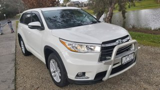 2016 Toyota Kluger GSU50R GX 2WD White 8 Speed Sports Automatic Wagon.
