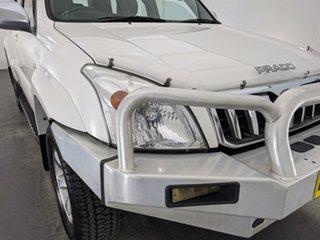 2006 Toyota Landcruiser Prado GRJ120R GXL White 5 Speed Automatic Wagon.